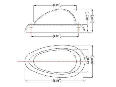Freightliner® 2-Wire Teardrop Side Marker Turn Light - Heavy Duty Lighting