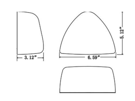 Peterbilt®  Clear Lens Park Turn Marker Assembly - Heavy Duty Lighting