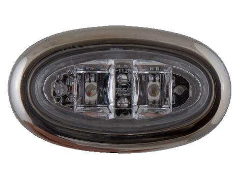 Mini Oval LED Clearance Marker Light with Stainless Bezel - Heavy Duty Lighting (en-US)