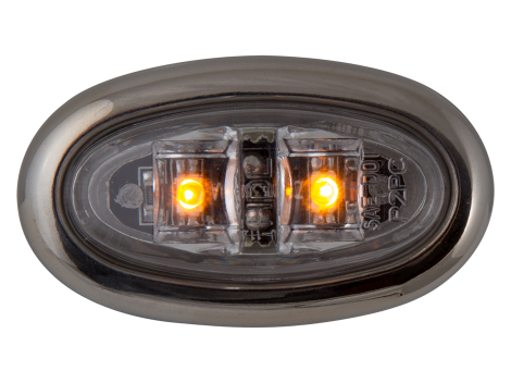 Mini Oval LED Clearance Marker Light with Stainless Bezel - Heavy Duty Lighting (en-US)