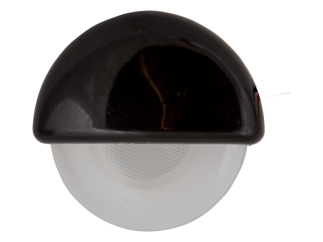 "2.25"" Half Round Interior Courtesy Light with Black Body - Heavy Duty Lighting (en-US) Products"