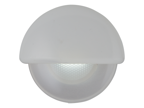 "2.25"" Half Round Interior Courtesy Light  with White Body - Heavy Duty Lighting (en-US)"