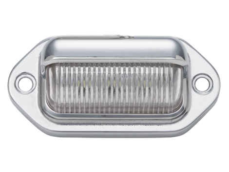 "2.6"" LED License Plate with Chromed ABS Housing - Heavy Duty Lighting (en-US)"