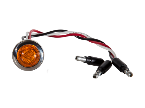 Mini Round Amber 3-Wire Clearance Turn Marker Light - Heavy Duty Lighting (en-US) Products