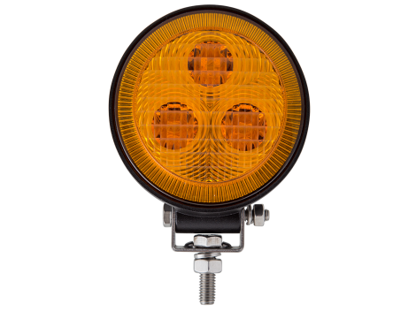 3 LED Mini Round Flood Light / Amber Lens - Heavy Duty Lighting (en-US)