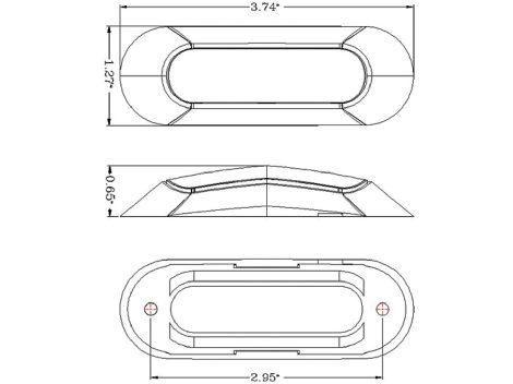 """3.75"""" Oval LED Clearance Marker Light - Heavy Duty Lighting (en-US)"""