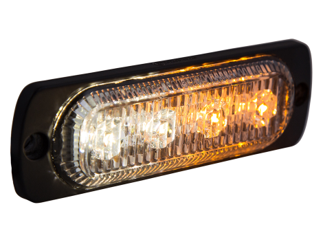 Ultra Thin Amber/White Surface Mount LED Strobe Lighthead - Heavy Duty Lighting (en-US) Products