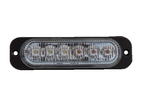 Ultra Thin Amber/White Surface Mount LED Strobe Lighthead - Heavy Duty Lighting (en-US)