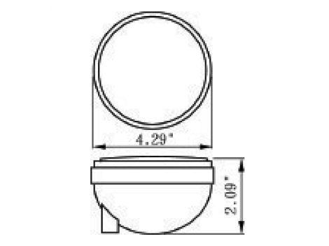 "4"" Round Clear Lens Stop Tail Turn Light - Heavy Duty Lighting (en-US)"