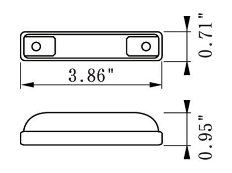 """4"""" Slim Line 3 Wire Clearance Marker Light - Heavy Duty Lighting (en-US)"""
