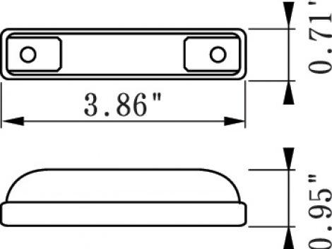 """4"""" Slim Line 3 Wire LED Clearance Marker Light - Heavy Duty Lighting (en-US)"""