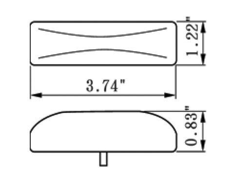 """4"""" Rectangular Clearance Marker Light - Heavy Duty Lighting (en-US)"""