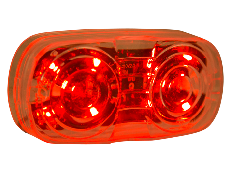 "4"" Red w/Clear Lens Double Bulls Eye Clearance Marker - Heavy Duty Lighting (en-US) Products"