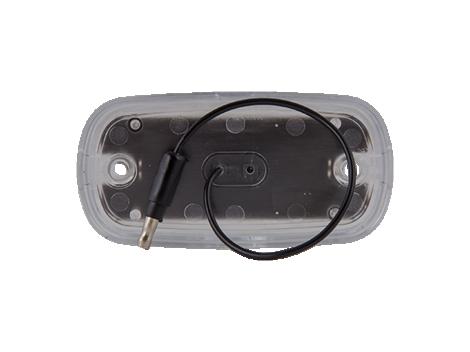 """4"""" Red w/Clear Lens Double Bulls Eye Clearance Marker - Heavy Duty Lighting (en-US)"""