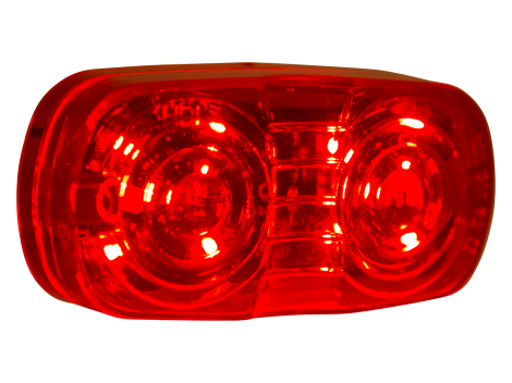"4"" Red Lens Double Bulls Eye Clearance Marker - Heavy Duty Lighting (en-US)"