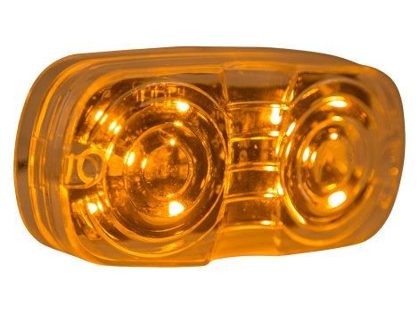 "4"" Amber w/Clear Lens Double Bulls Eye Clearance Marker - Heavy Duty Lighting (en-US) Products"