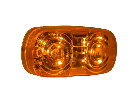 "4"" Amber Lens Double Bulls Eye Clearance Marker - Heavy Duty Lighting (en-US) Products"