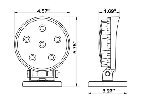 High Output Round Magnetic Base LED Work Light - Heavy Duty Lighting (en-US)