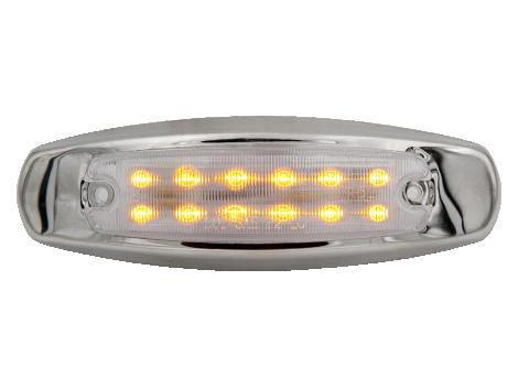 "6"" LED Clearance Marker Light w/Stainless Trim - Heavy Duty Lighting (en-US)"