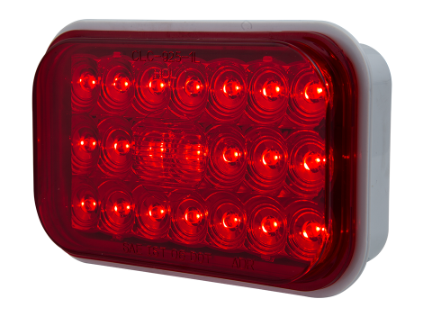 "5"" Rectangular Red Stop Tail Turn Light - Heavy Duty Lighting (en-US) Products"