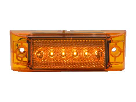 "2"" x 6"" LED Clearance Marker with Reflex Lens - Heavy Duty Lighting (en-US)"