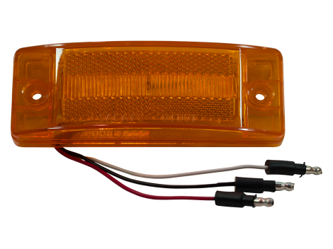 "2"" x 6"" Reflex Lens Surface Mount Turn Marker Light - Heavy Duty Lighting (en-US) Products"