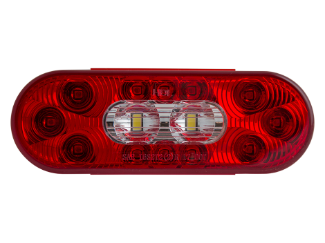 "6"" Oval LED Combination Stop Tail Turn with Backup Light - Heavy Duty Lighting (en-US) Products"