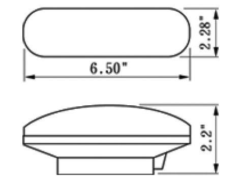 """6"""" Oval Backup Light - Heavy Duty Lighting (en-US)"""