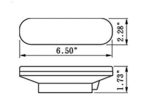 """6"""" Oval LED Park Turn Light - Heavy Duty Lighting (en-US)"""