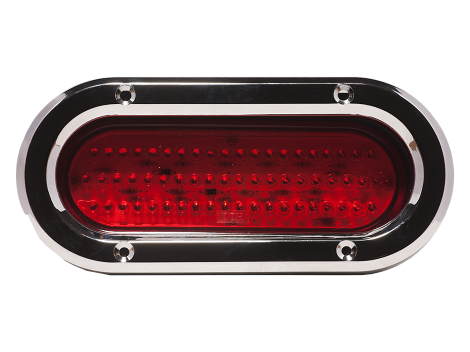 "6"" Oval Chrome Plastic Bezel - Heavy Duty Lighting (en-US)"