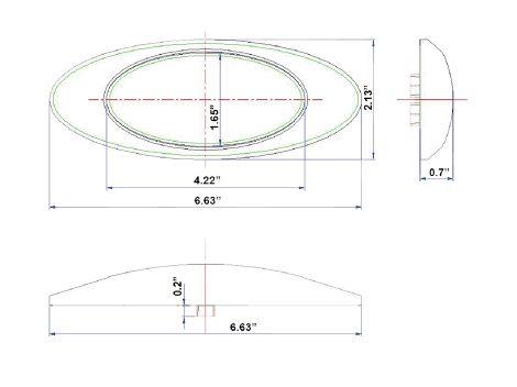 """6"""" Oval Clearance Marker Light - Heavy Duty Lighting (en-US)"""