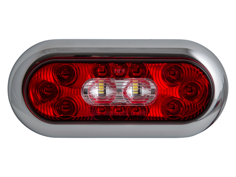 "6"" Oval LED Surface Mount Combination Stop Tail Turn with Backup Light - Heavy Duty Lighting (en-US) Products"