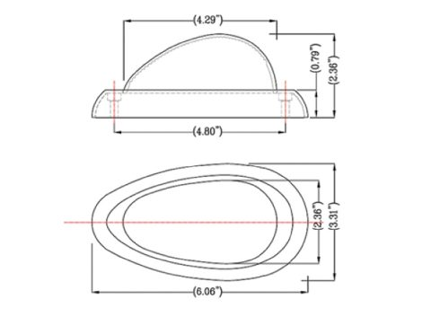 Freightliner® 2-Wire Teardrop Side Marker Turn Light - Heavy Duty Lighting (en-US)
