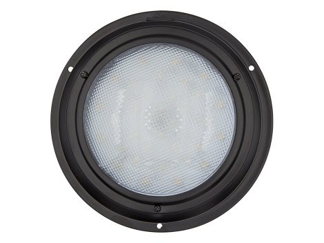 "7"" Round Black Finish Interior Dome Light with On/Off Switch - Heavy Duty Lighting (en-US) Products"