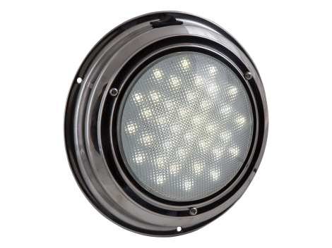 """7"""" Round Stainless Steel Interior Dome Light with On/Off Switch - Heavy Duty Lighting (en-US)"""
