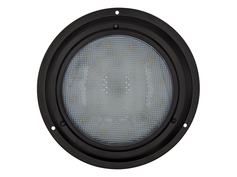 "7"" Round Black Finish Interior Dome Light with No Switch - Heavy Duty Lighting (en-US) Products"