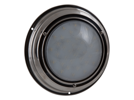 "7"" Round Stainless Steel Interior Dome Light with No Switch - Heavy Duty Lighting (en-US)"
