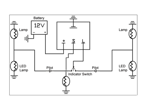 4 Pin Electronic LED Flasher - Heavy Duty Lighting (en-US)