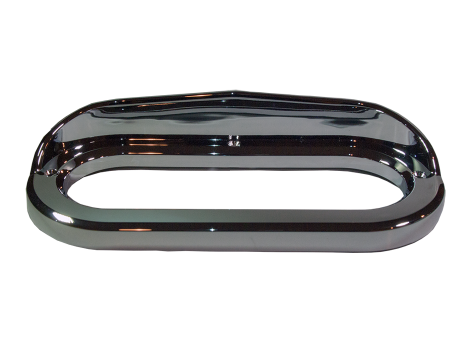 "6"" Oval Chrome Plastic Bezel w/Visor - Heavy Duty Lighting (en-US)"