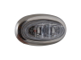 Mini Oval Clear Blue Clearance Marker Light with Stainless Bezel - Heavy Duty Lighting