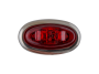 Mini Red Oval Clearance Marker Light with Stainless Bezel - Heavy Duty Lighting
