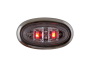 Mini Oval Clear Red Clearance Marker Light with Stainless Bezel - Heavy Duty Lighting