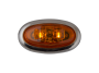 Mini Oval Amber Clearance Marker Light with Stainless Bezel - Heavy Duty Lighting