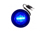 Mini Round Clear/Blue 2-Wire Clearance Marker Light - Heavy Duty Lighting