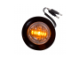 Mini Round Clear/Amber 2-Wire Clearance Marker Light - Heavy Duty Lighting