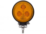 3 LED Mini Round Flood Light / Amber Lens - Heavy Duty Lighting