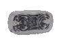"""4"""" Red w/Clear Lens Double Bulls Eye Clearance Marker - Heavy Duty Lighting"""