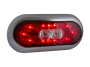 "6"" Oval Surface Mount Combination Stop Tail Turn with Backup Light - Heavy Duty Lighting"