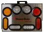 "12"" X 16"" Self-Powered Illuminated Display Board - Heavy Duty Lighting"