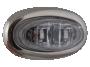 Mini Oval Clear Blue Clearance Marker Light with Stainless Bezel - Heavy Duty Lighting (en-US)